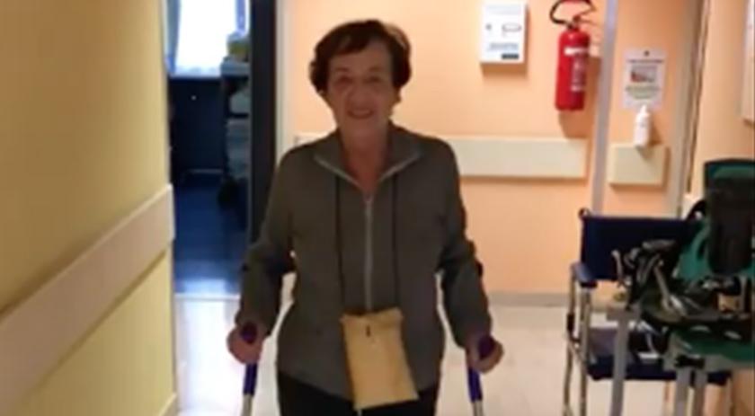 Deambulazione dopo 3 giorni dall'intervento di protesi d'anca con tecnica mininvasiva