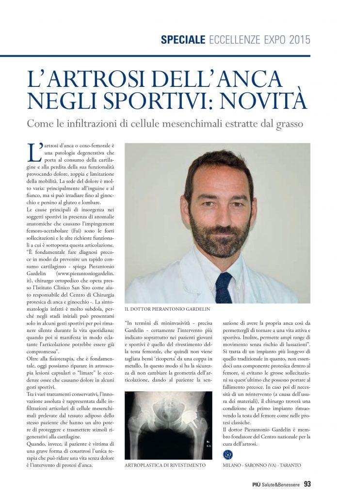 L'Artrosi dell'anca negli sportivi:novità