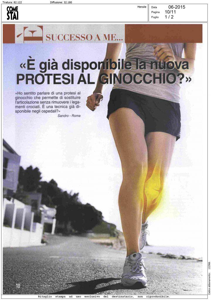 è già disponibile la nuova protesi al ginocchio?